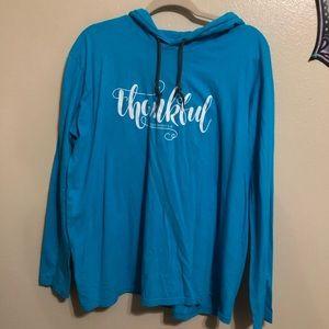 Long sleeve tee w/ hoodie